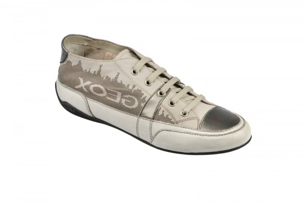 Geox Respira Moena Schuhe weiß grau
