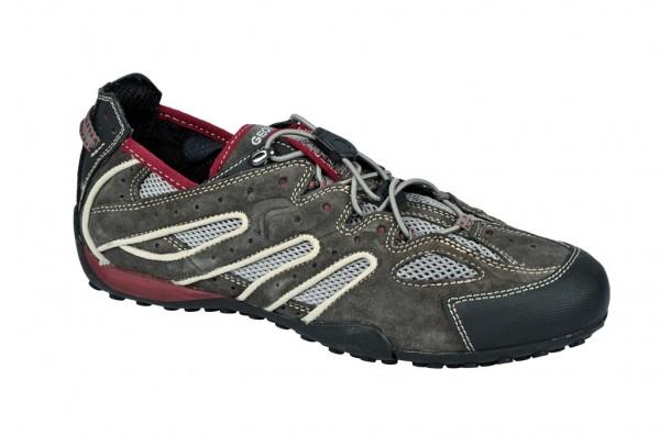 Geox Snake B Schuhe dunkelgrau rot Sneakers U1107B