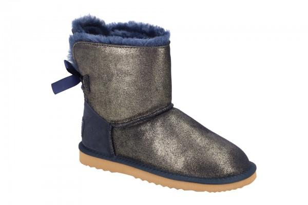 Oog Stiefel grau silber Kurzschaft Boots B066