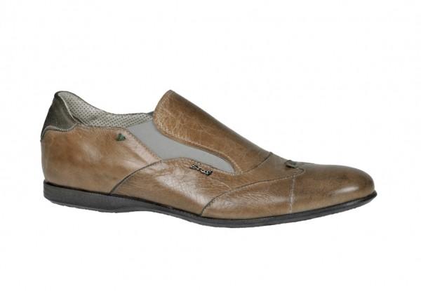 Bello Schuhe D292 beige braun Slipper