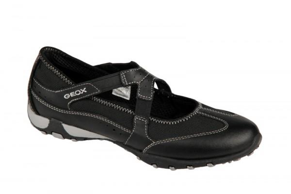 Geox Freccia Bal Schuhe in schwarz Balleriana Slipper