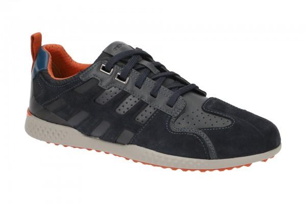 Geox Snake 2 Schuhe Sneakers blau orange