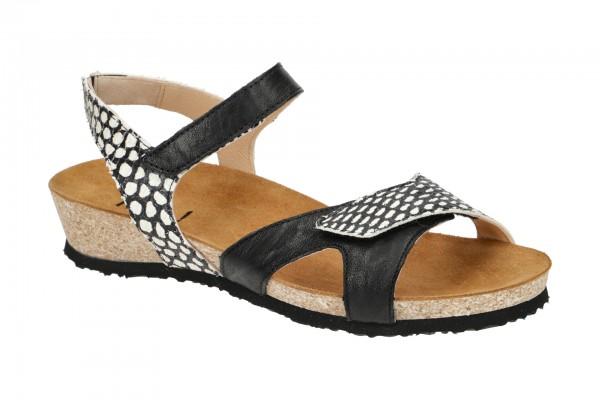 Think Dumia Damen Sandale schwarz weiß