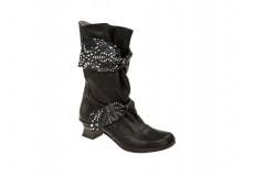 Lisa Tucci Stiefel Valentino schwarz Laser-Muster weiß Valentino 01-40