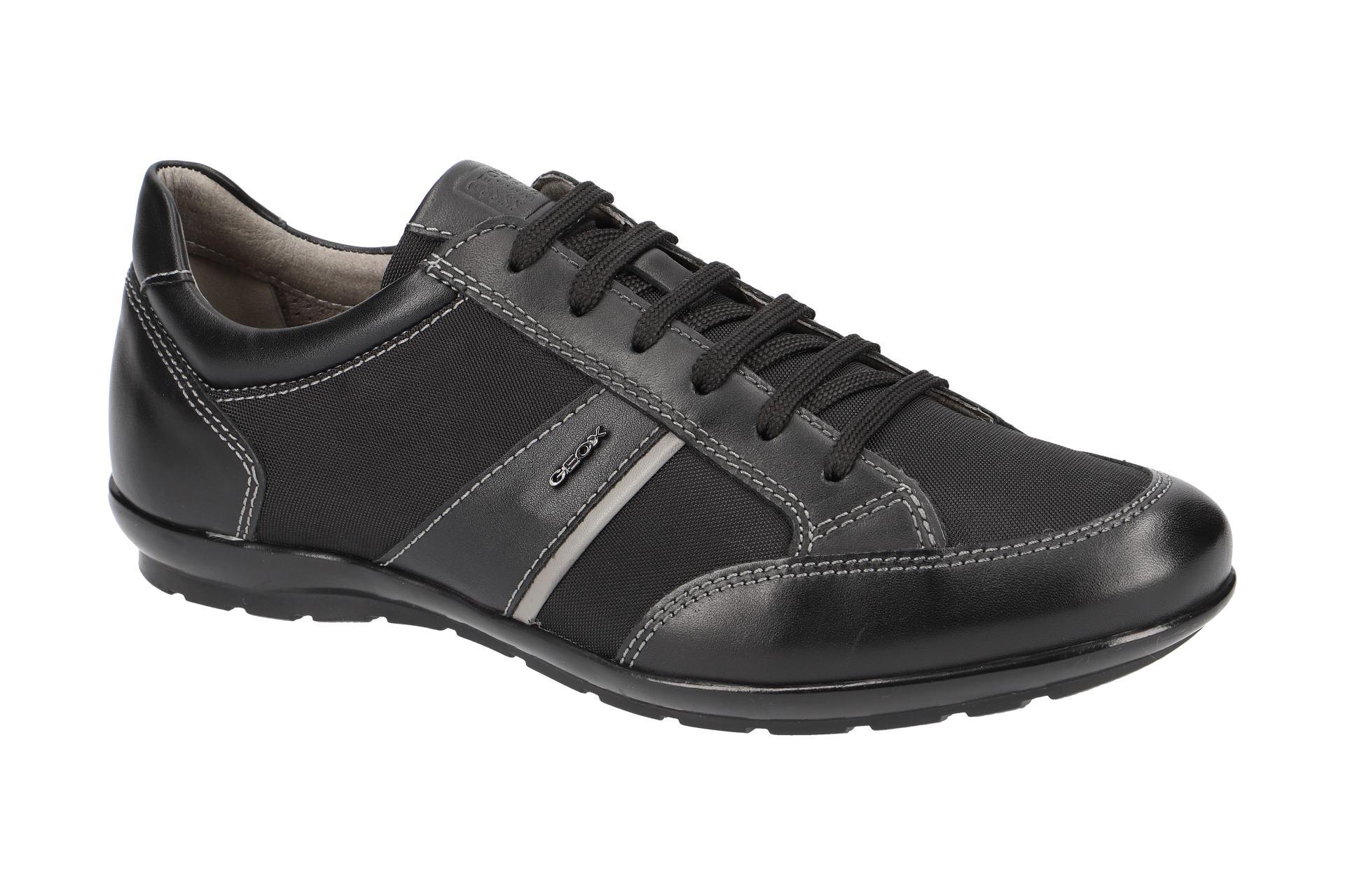 Geox Symbol Schuhe schwarz grau U82A5A
