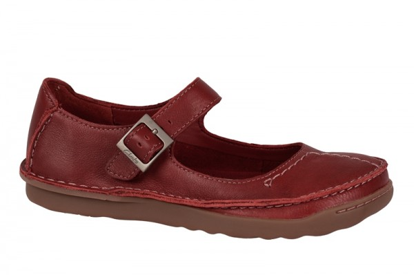 Clarks Faze Fever Schuhe in rot Slipper 20351549
