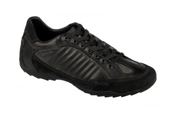 Geox Pietro V Schuhe schwarz grau Sneakers