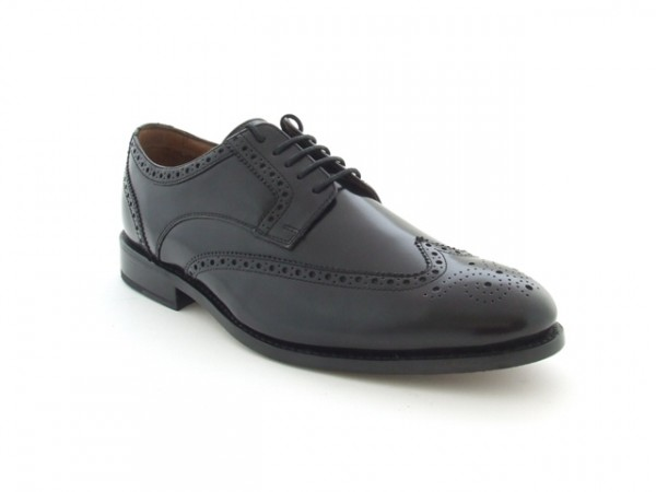 Clarks Dixon Class Schuhe in schwarz rahmengenäht