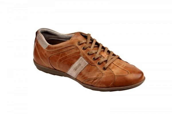 Geox Icona Sneaker braun grau Schnürer