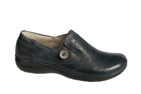 Clarks Un Loop navy blau Damen Slippers