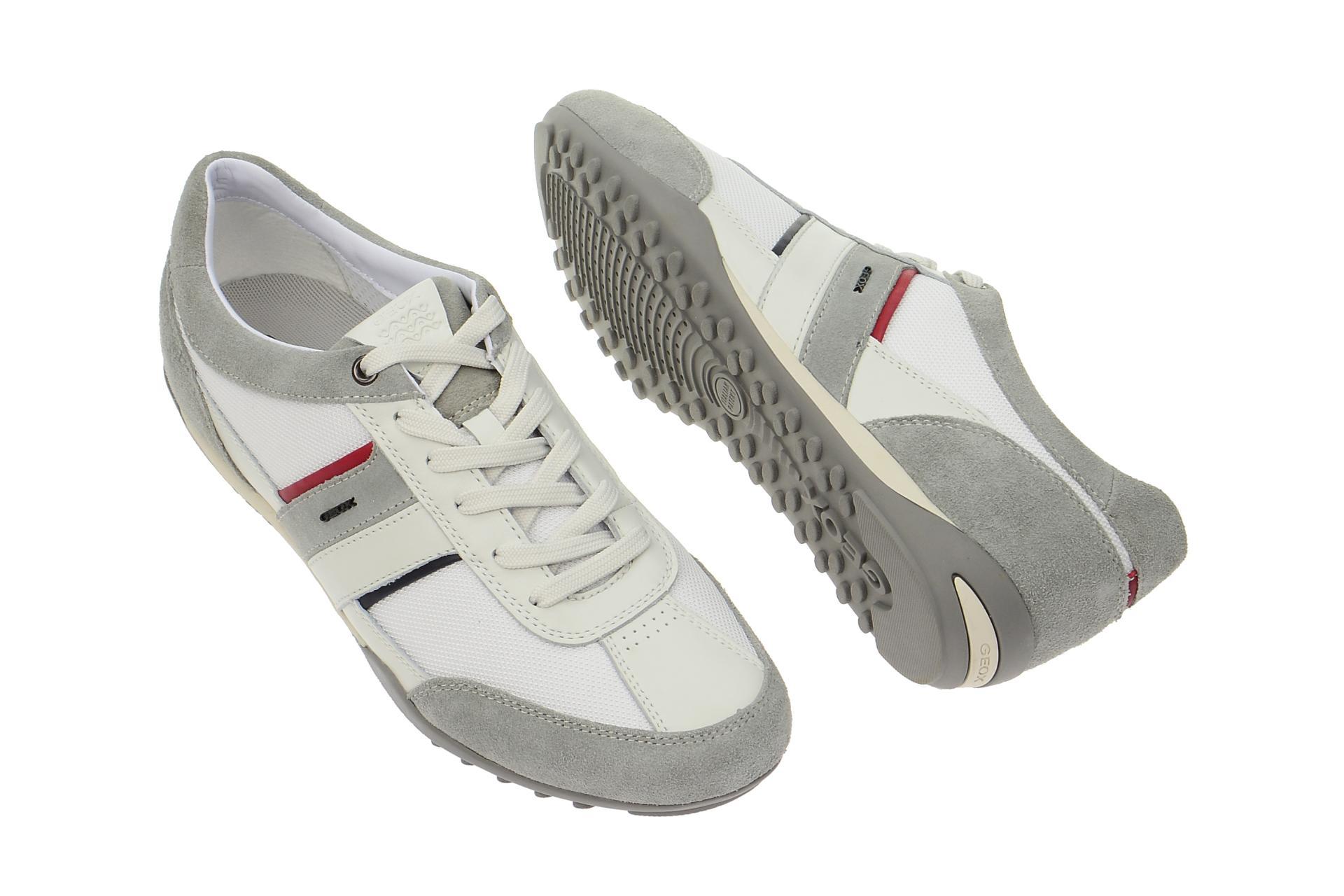 Details zu Geox Schuhe WELLS weiß Herrenschuhe sportliche Halbschuhe U52T5C 02211 C0130