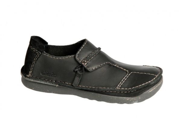 Clarks Mantal Back Schuhe schwarz Slipper