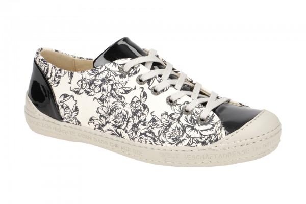 Eject Dass Schuhe schwarz weiß Blumen 11207