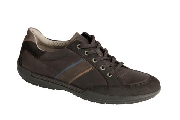 Ecco Welt Sneaker Schuhe dunkelbraun Schnürer