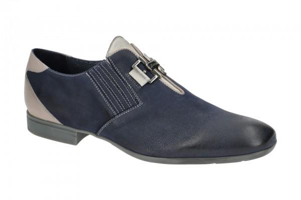 Bello Slipper Schuhe blau grau BL442