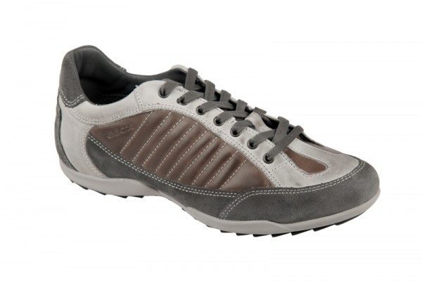 Geox Pietro V Schuhe grau braun Herren Sneakers