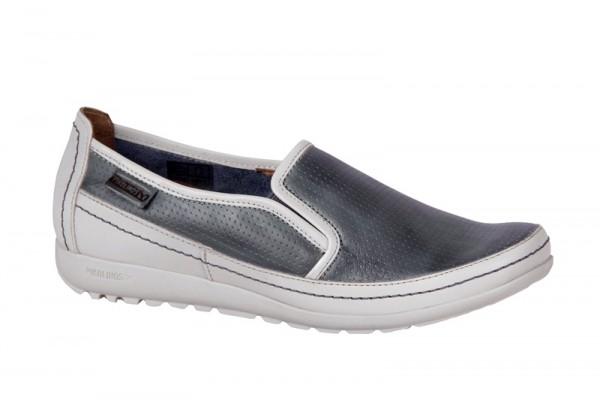 Pikolinos Lisboa Schuhe blau weiß Slipper 767-8487LA