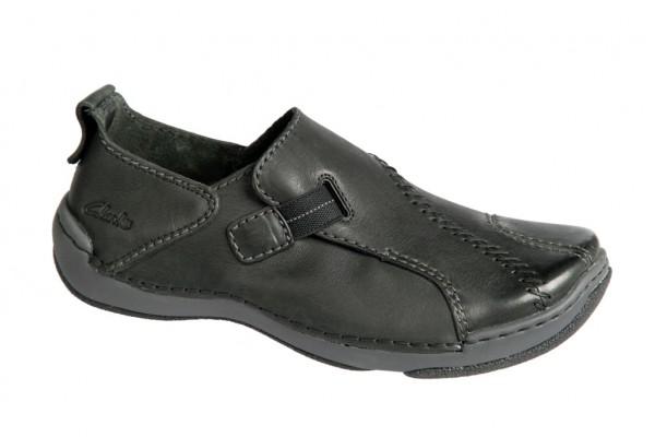 Clarks Natural Foot Schuhe schwarz Slipper