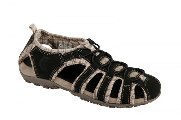 Geox Respira Schuhe Sand Strel schwarz beige Sandalette