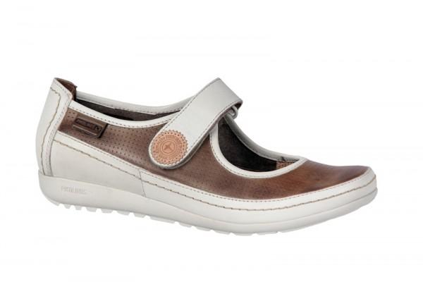 Pikolinos Lisboa Schuhe braun weiß Slipper 767-848LA