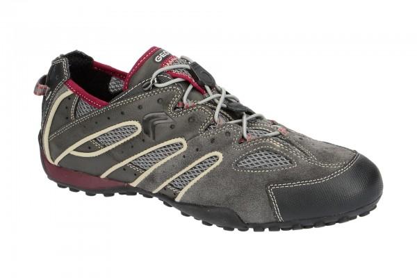 Geox Snake Schuhe grau rot U4207J