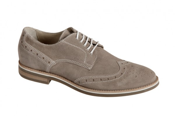 Geox West Side Business Schuhe velour grau