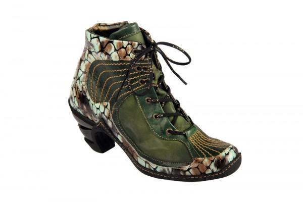 Eject Multy Stiefelette grün schwarz E-12660-V1