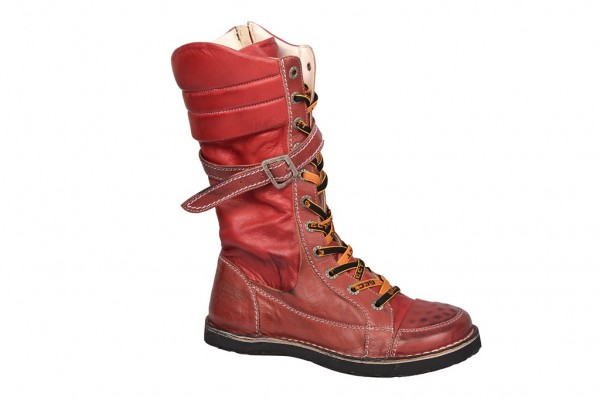 Eject SonySerap Stiefel in rot mit Lederfutter E-15628