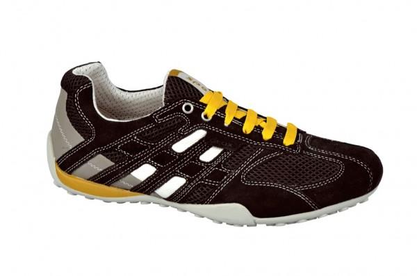 Geox Snake M Schuhe coffee braun Sneakers U1107M