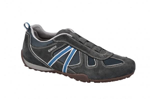 Geox Snake R Schuhe grau blau Slipper U3207R