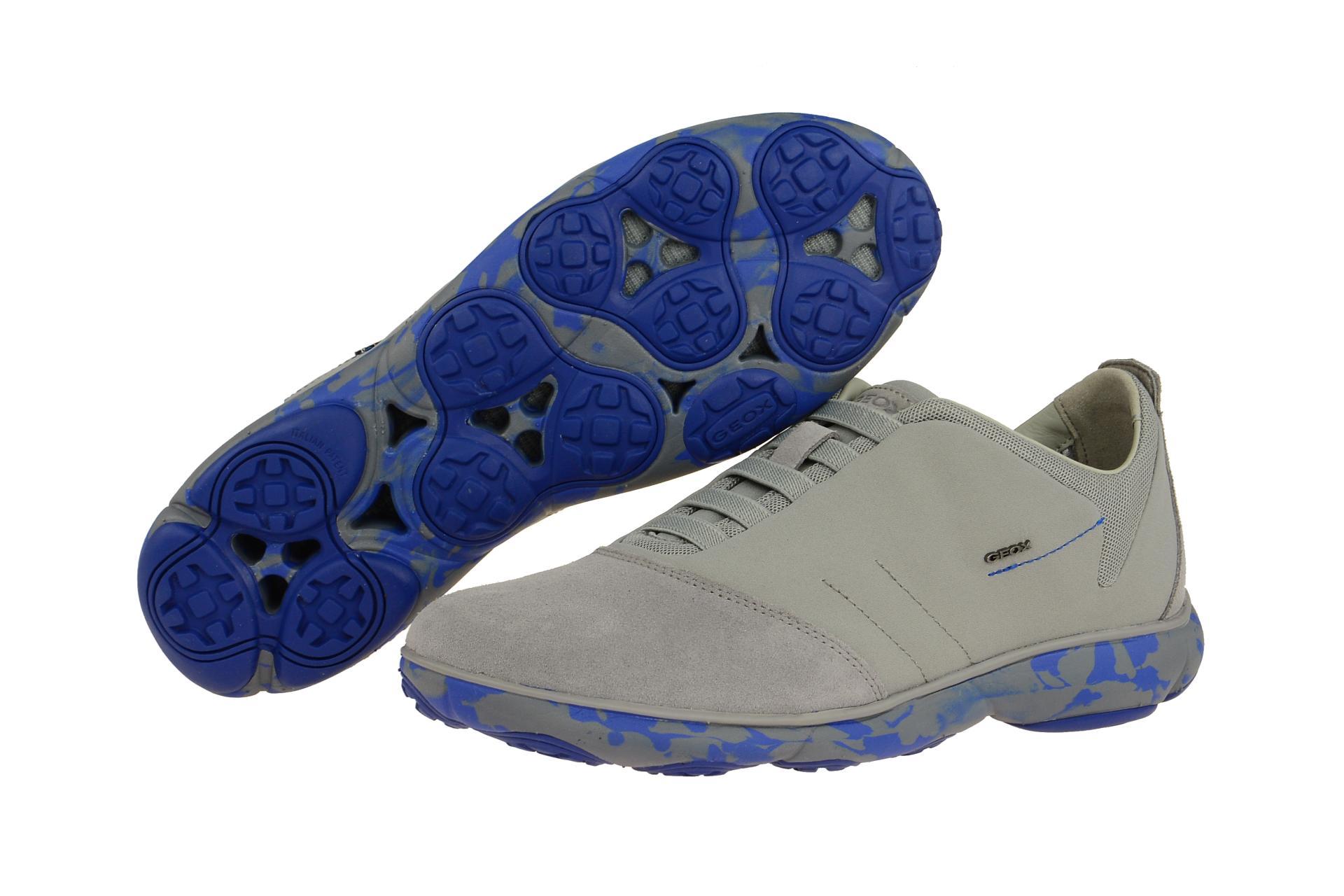 Geox Schuhe NEBULA grau Herrenschuhe sportliche Slipper