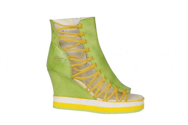 Eject Eleane II Schuhe grün gelb Plateau Keil