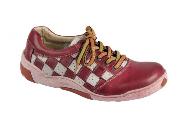 Eject Ice Schuhe rot weiß Karo 13527