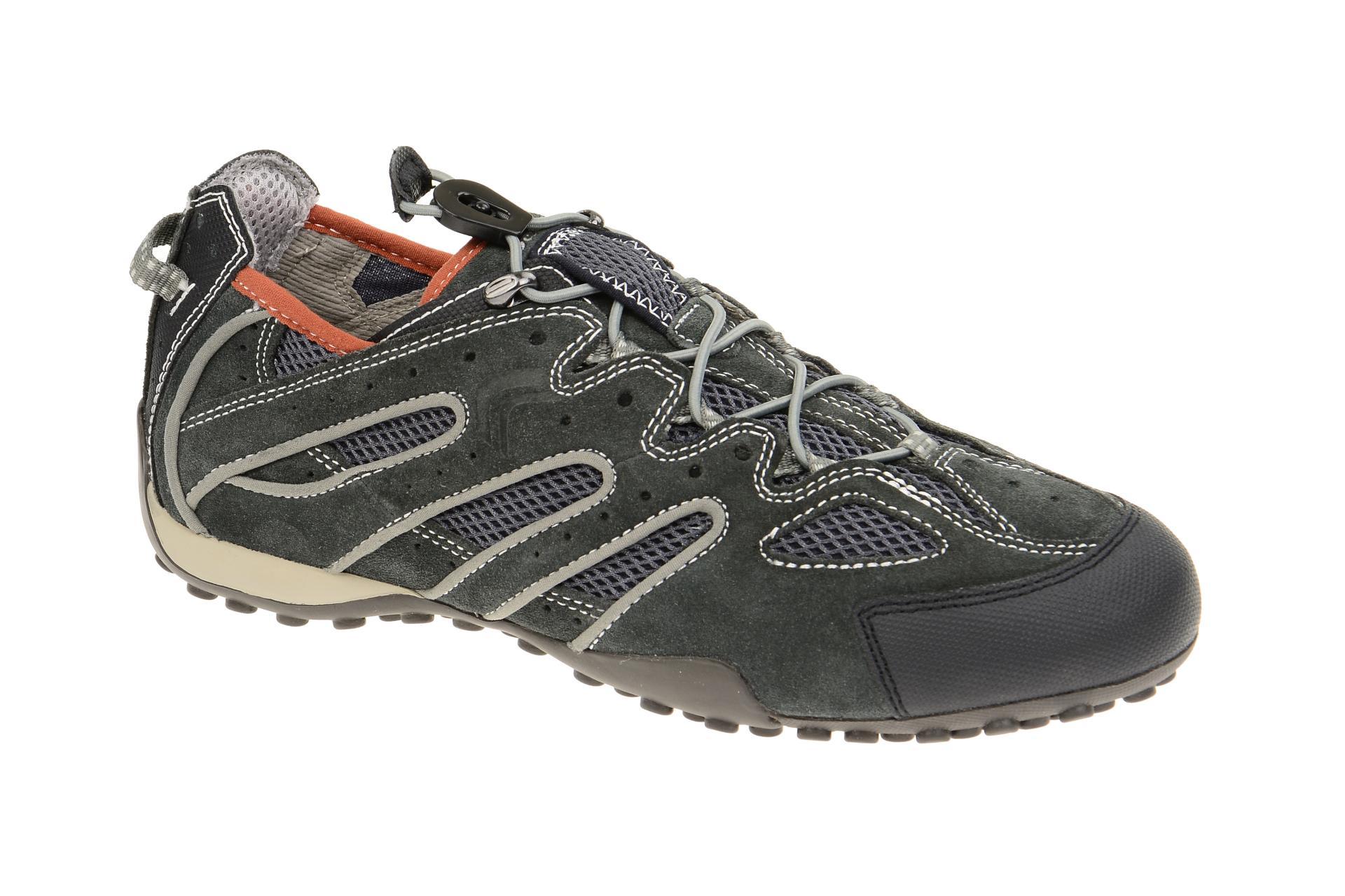 Geox Respira Snake J Sneakers in dunkelgrau Gummizug