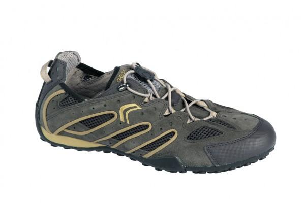 Geox Snake B Schuhe U1107B grau braun gelb