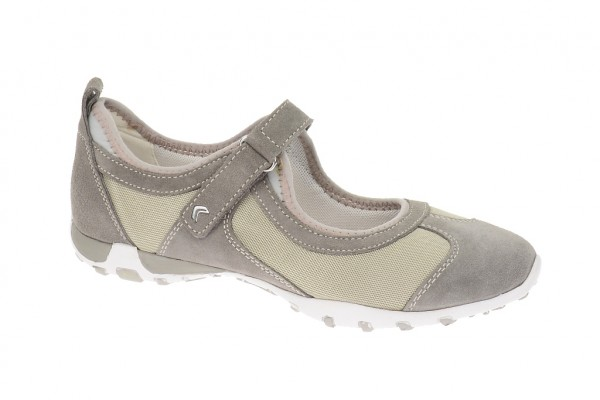 Geox Freccia B Slipper in grau Mary Jane D32C0K