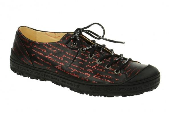 Eject Dass Schuhe schwarz rot 11207