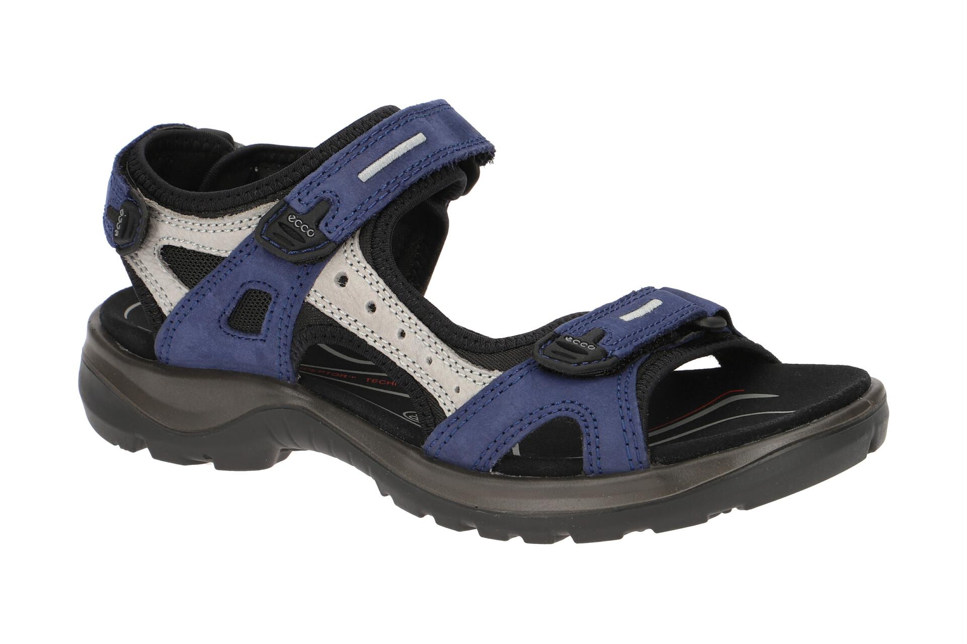 Ecco Offroad Damen Sandale blau grau