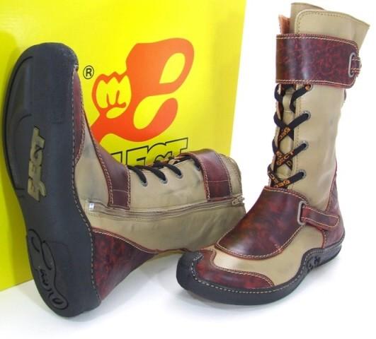 Eject SKAT E-10776 Stiefel dunkelrot beige