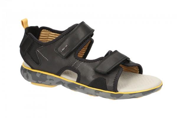 Geox Nebula Herren Sandale schwarz gelb