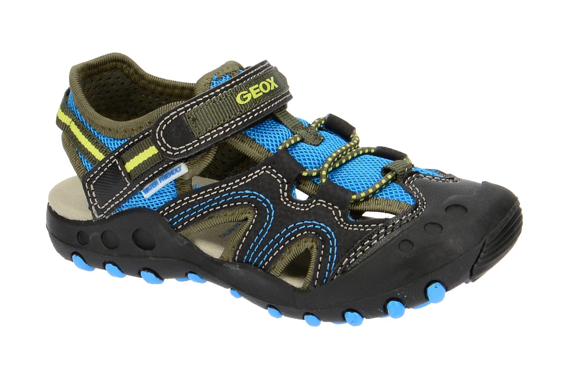 Geox Jungen Sandalen schwarz blau wassertauglich