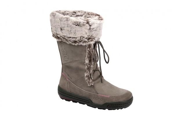 Ecco Siberia Stiefel grau Winterstiefel Boots