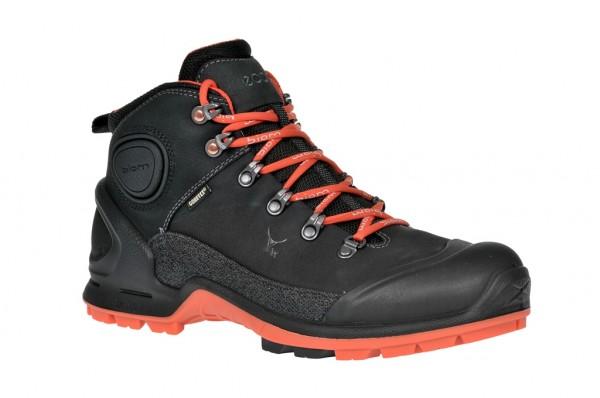 Ecco Biom Terrain Stiefelette in schwarz orange Yakleder Gore-Tex