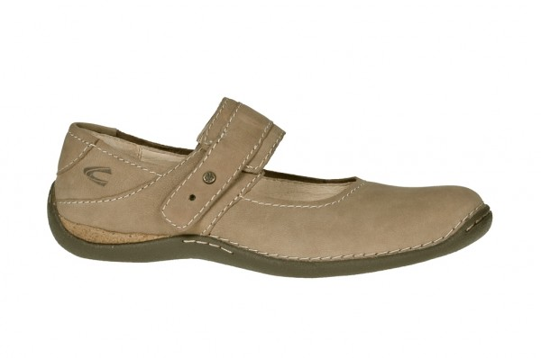 camel active Marrakesh Slipper in taupe beige Mary Jane