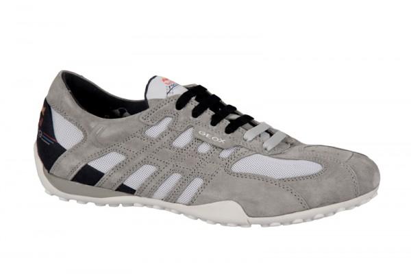 Geox Snake Red Bull Schuhe grau weiß