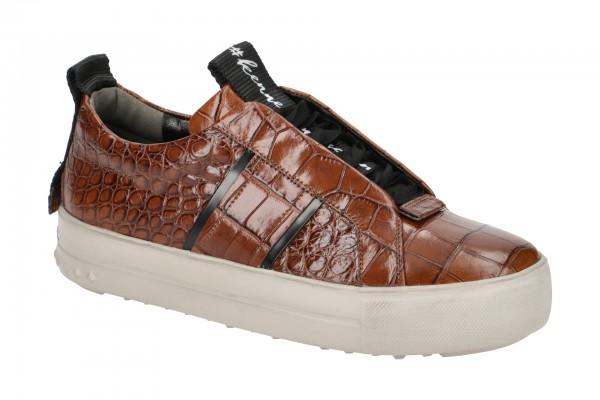 K&S Mega Sneakers Schuhe braun Kroko