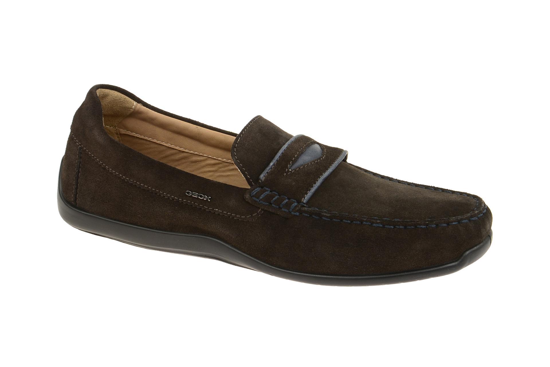 Geox Schuhe XENSE MOX braun Herrenschuhe bequeme Slipper