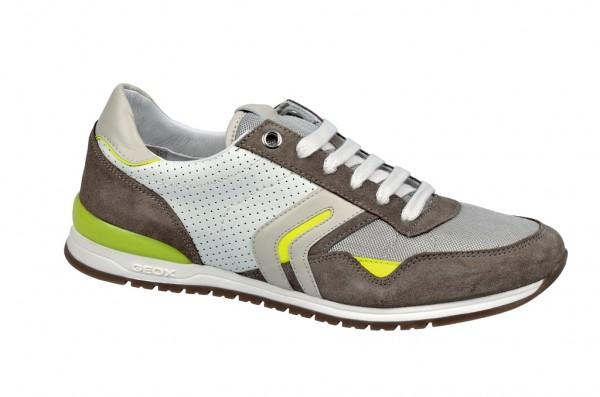 Geox Speed P Schuhe beige weiß Sneakers U32X1P