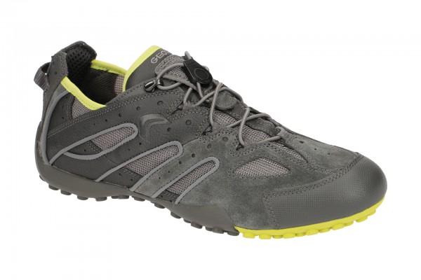 Geox Snake Sneaker Schuhe grau gelb U4207J