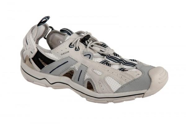 Geox Tech Schuhe weiß blau Herren Slipper